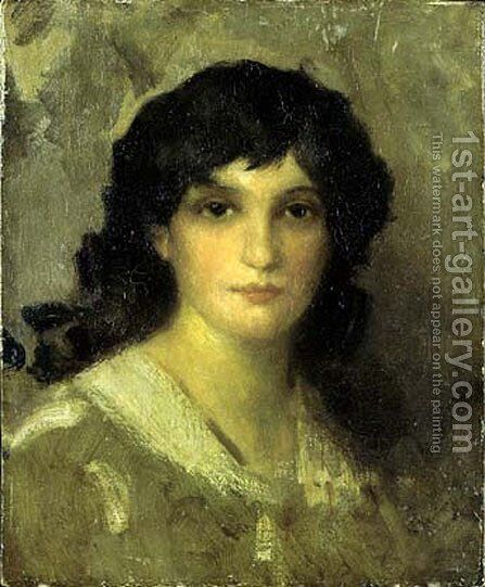 Head of a Young Woman by James Abbott McNeill Whistler - Reproduction Oil Painting