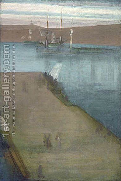 Valparaiso Harbor by James Abbott McNeill Whistler - Reproduction Oil Painting