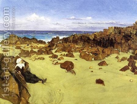 The Coast of Brittany by James Abbott McNeill Whistler - Reproduction Oil Painting