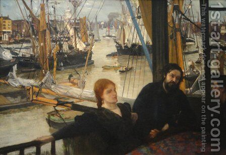 Wapping on Thames by James Abbott McNeill Whistler - Reproduction Oil Painting