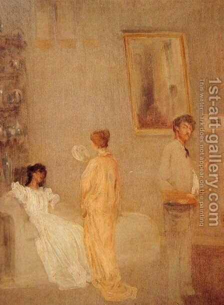 Whistler in his Studio by James Abbott McNeill Whistler - Reproduction Oil Painting