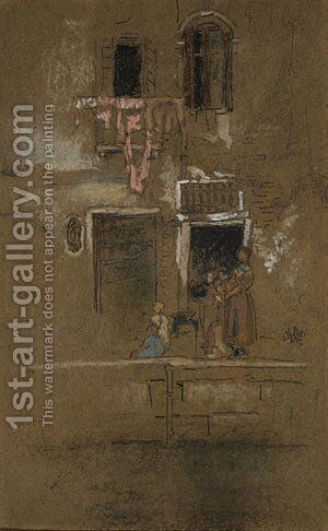 Note in Pink and Brown by James Abbott McNeill Whistler - Reproduction Oil Painting