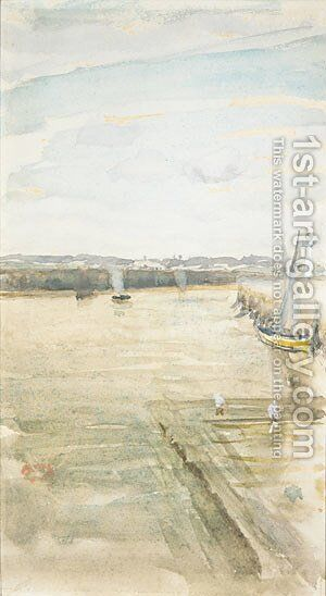 Scene on the Mersey by James Abbott McNeill Whistler - Reproduction Oil Painting