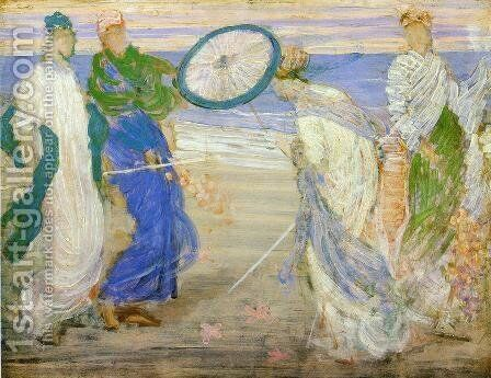 Symphony in Blue and Pink by James Abbott McNeill Whistler - Reproduction Oil Painting