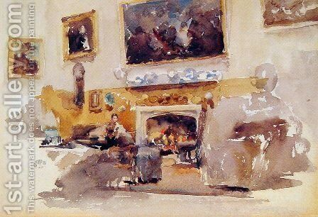 Moreby Hall by James Abbott McNeill Whistler - Reproduction Oil Painting