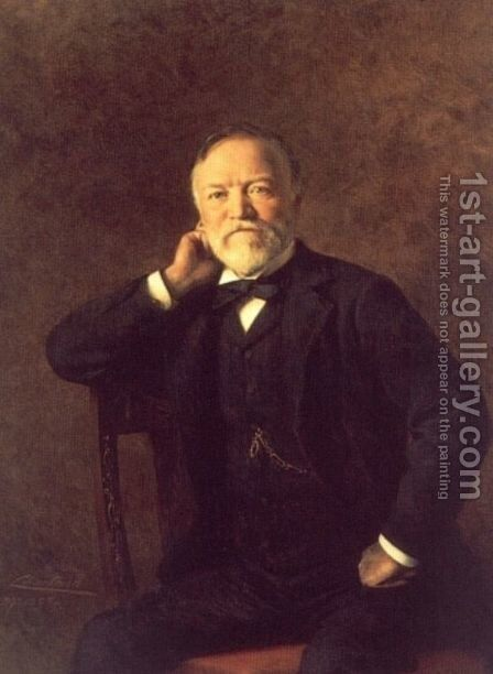 Portrait of Andrew Carnegie by Théobald Chartran - Reproduction Oil Painting
