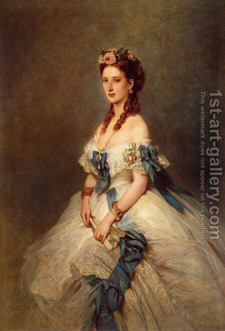 Alexandra, Princess of Wales by Franz Xavier Winterhalter - Reproduction Oil Painting