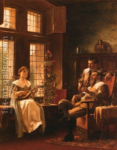 A Tender Chord by Mihaly Munkacsy - Reproduction Oil Painting