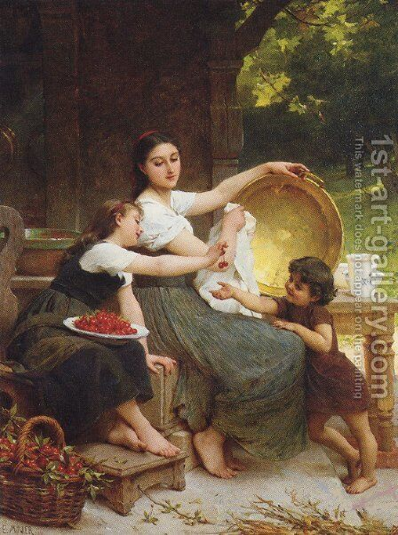 Les Confitures (Jams) by Emile Munier - Reproduction Oil Painting