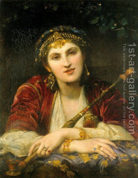 La belle orientale by Charles Louis Lucien Muller - Reproduction Oil Painting