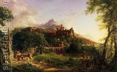 The Departure by Thomas Cole - Reproduction Oil Painting