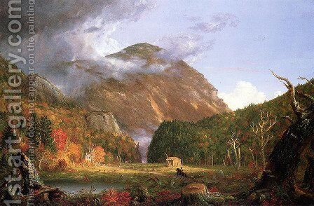 The Notch of the White Mountains (Crawford Notch) by Thomas Cole - Reproduction Oil Painting