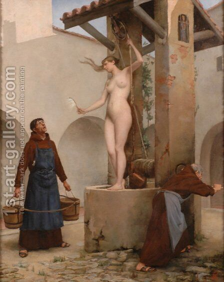 Spirit of the Well by Charles West Cope - Reproduction Oil Painting