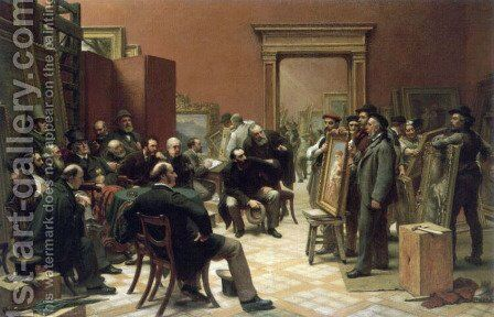 The Council of the Royal Academy Selecting Pictures for Exhibition by Charles West Cope - Reproduction Oil Painting