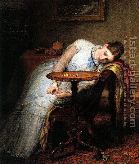 Hope Deferred, And Hopes And Fears That Kindle Hope by Charles West Cope - Reproduction Oil Painting