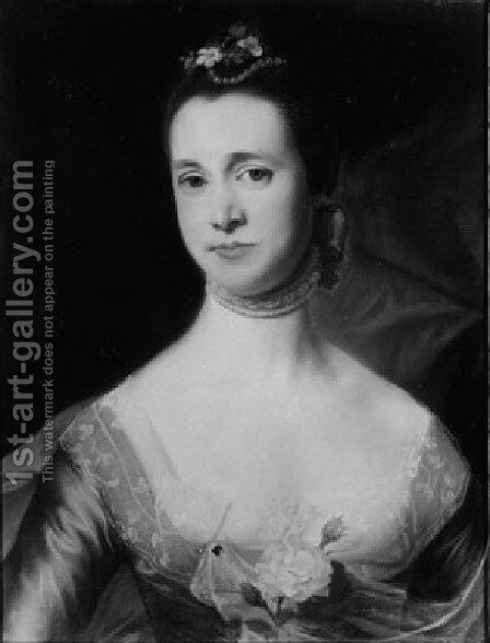 Mrs. Edward Green (Mary Storer) by John Singleton Copley - Reproduction Oil Painting