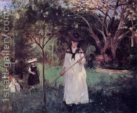 The Butterfly Chase by Berthe Morisot - Reproduction Oil Painting