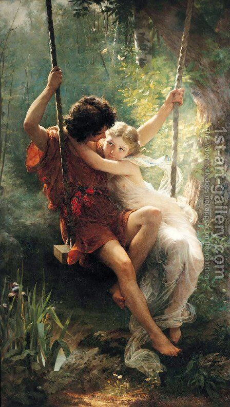 Springtime by Pierre Auguste Cot - Reproduction Oil Painting
