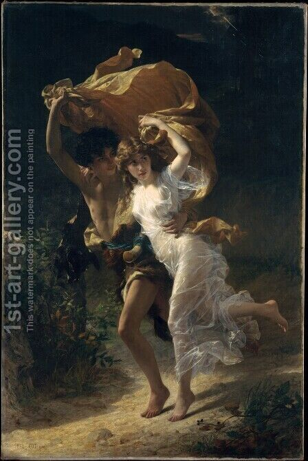 The Storm by Pierre Auguste Cot - Reproduction Oil Painting