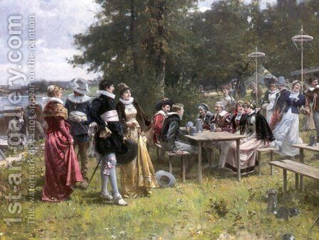 May Day by Adrien Moreau - Reproduction Oil Painting