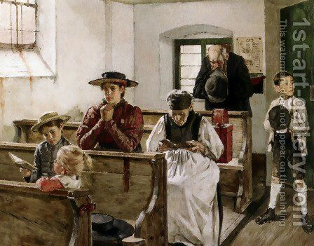 Morning Prayers by Martin von Molitor - Reproduction Oil Painting
