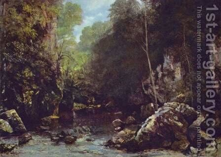 The Shaded Stream (or The Stream of the Puits Noir) by Gustave Courbet - Reproduction Oil Painting