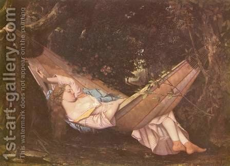 The Hammock by Gustave Courbet - Reproduction Oil Painting