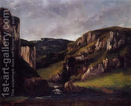 Cliffs near Ornans by Gustave Courbet - Reproduction Oil Painting