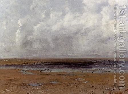 The Beach at Trouville at Low Tide by Gustave Courbet - Reproduction Oil Painting