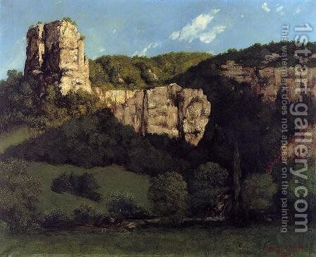 Landscape: Bald Rock in the Valley of Ornans by Gustave Courbet - Reproduction Oil Painting