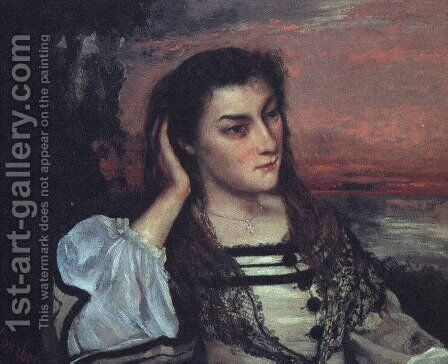 Portrait of Gabrielle Borreau (or The Dreamer) by Gustave Courbet - Reproduction Oil Painting