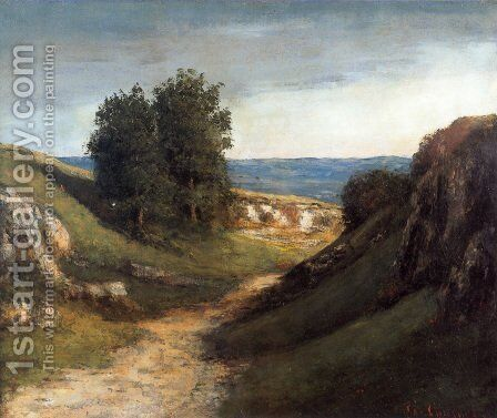 Paysage Guyere by Gustave Courbet - Reproduction Oil Painting