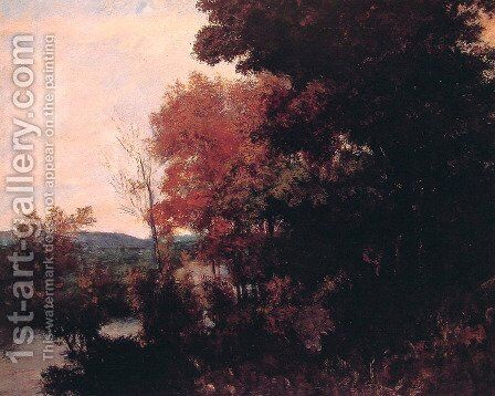 Lisiere de foret by Gustave Courbet - Reproduction Oil Painting