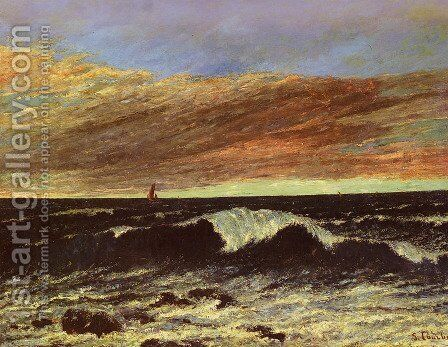 La Vague (The Wave) by Gustave Courbet - Reproduction Oil Painting