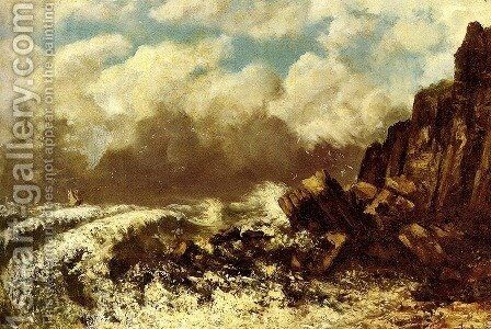 Marine A Etretat by Gustave Courbet - Reproduction Oil Painting