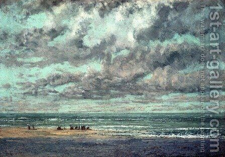 Marine--Les Equilleurs by Gustave Courbet - Reproduction Oil Painting