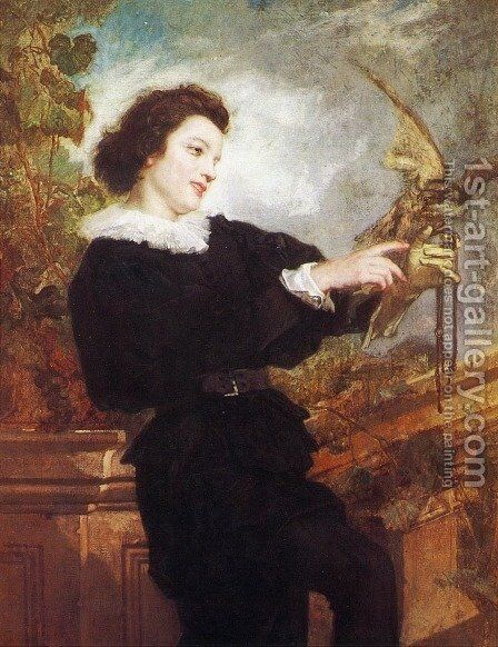The Falconer by Thomas Couture - Reproduction Oil Painting