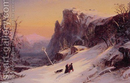Winter in Switzerland by Jasper Francis Cropsey - Reproduction Oil Painting