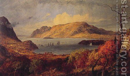 Gates of the Hudson by Jasper Francis Cropsey - Reproduction Oil Painting