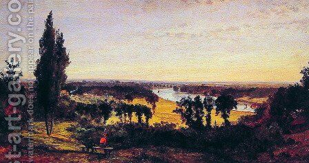 Richmond Hill and the Thames, London by Jasper Francis Cropsey - Reproduction Oil Painting