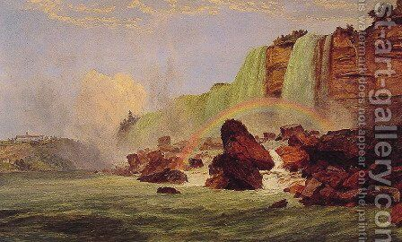 Niagara Falls with a View of Clifton House by Jasper Francis Cropsey - Reproduction Oil Painting