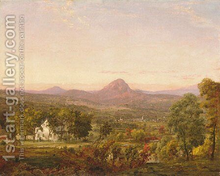 Autumn Landscape, Sugar Loaf Mountain, Orange County, New York by Jasper Francis Cropsey - Reproduction Oil Painting