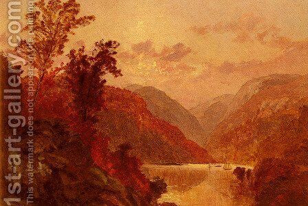 In The Highlands Of The Hudson by Jasper Francis Cropsey - Reproduction Oil Painting