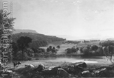 View near Sherburne, Chenango County, New York by Jasper Francis Cropsey - Reproduction Oil Painting