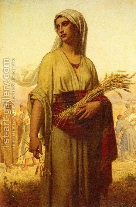 Ruth in the Fields by Hugues Merle - Reproduction Oil Painting