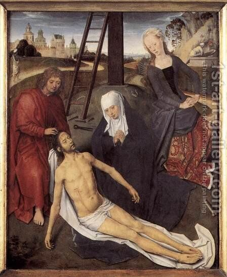 Triptych of Adriaan Reins [detail: 2, central panel] by Hans Memling - Reproduction Oil Painting