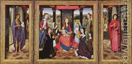 The Donne Triptych by Hans Memling - Reproduction Oil Painting
