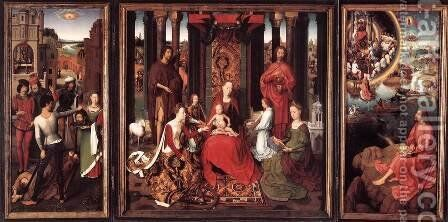 St John Altarpiece by Hans Memling - Reproduction Oil Painting