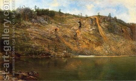 The Iron Mine, Port Henry, New York by Homer Dodge Martin - Reproduction Oil Painting