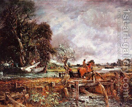 The Leaping Horse by John Constable - Reproduction Oil Painting